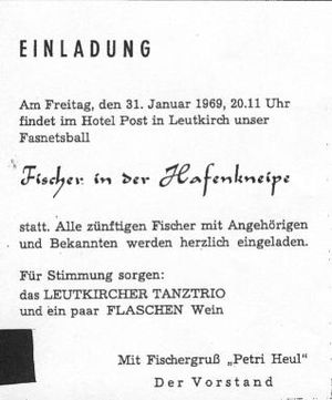 homepage des fv leutkirch e.v., Einladung